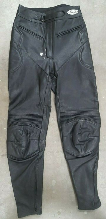 Ashman Classic Leather Motorcycle Motorbike Pants Trousers Jeans - Size 30
